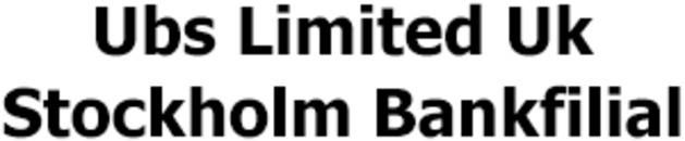 Ubs Europe Se Sweden Bankfilial logo