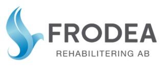 Frodea Rehabilitering AB, tidigare Blombacka Rehabiliteringscenter AB logo