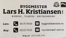 Byggmester Lars H.Kristiansen As logo