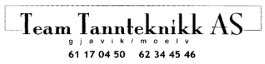 Team Tannteknikk AS logo