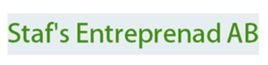 Staf's Entreprenad AB logo