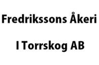 Fredrikssons Åkeri i Torrskog AB logo