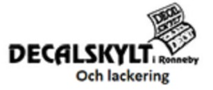 Decalskylt och lackering i Ronneby logo