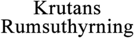 Krutans Rumsuthyrning logo