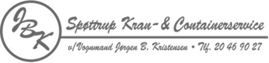 Spøttrup Kran & Containerservice v/ Vognmand Jørgen B. Kristensen logo