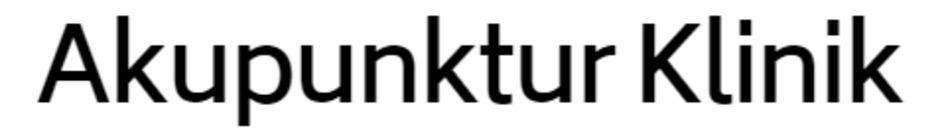 Akupunktur Klinik logo