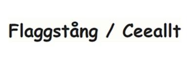 Flaggstång / Ceeallt logo