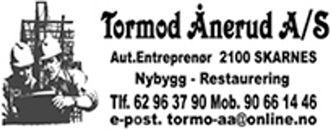 Entreprenør Tormod Ånerud AS logo
