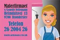 Malerfirmaet v/ Lenette Nellemann logo