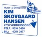 Murer & Entreprenørfirmaet Kim Skovgaard Hansen logo