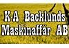 Backlunds Maskinaffär AB, K A logo