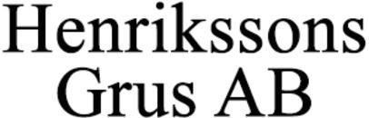 Henrikssons Grus AB logo