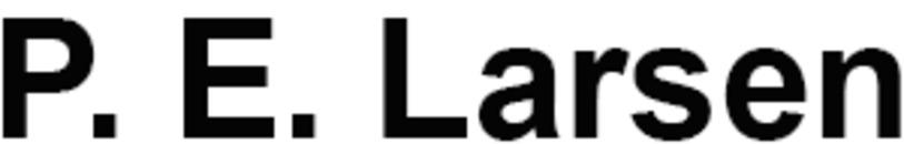 P. E. Larsen logo