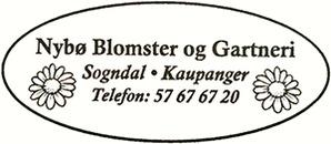 Nybø Blomster og Gartneri logo