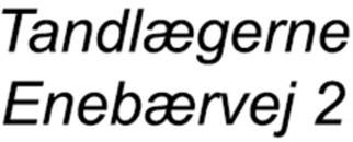 Tandlægerne Enebærvej 2 logo