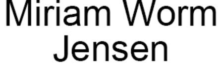 Miriam Worm Jensen logo