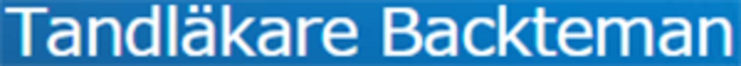 Tandläkare Peter Backteman logo
