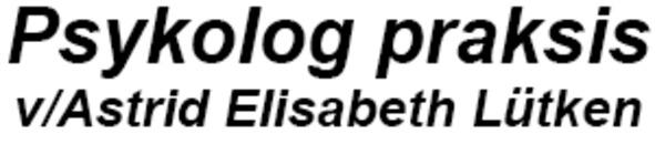 Psykolog praksis v/Astrid Elisabeth Lütken logo