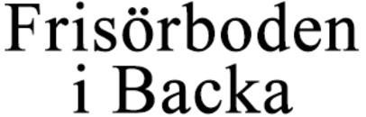 Frisörboden i Backa logo