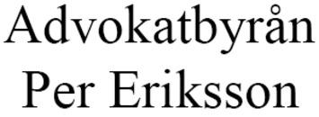 Advokatbyrån Per Eriksson AB logo