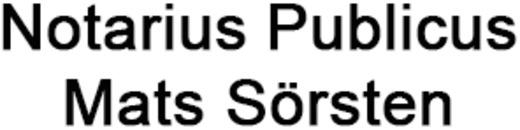 Notarius Publicus, Mats Sörsten logo