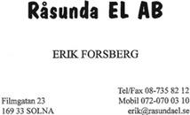 Råsunda El AB logo