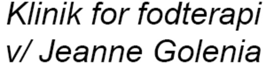 Klinik for fodterapi v/ Jeanne Golenia logo