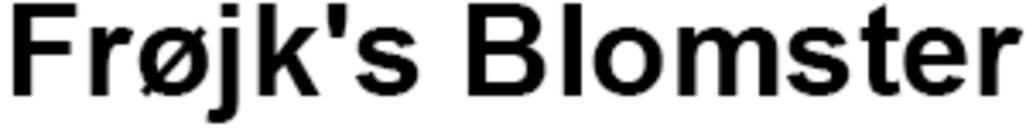 Frøjk's Blomster logo