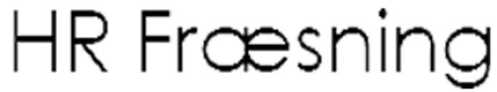 HR Fræsning ApS logo
