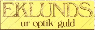 Eklunds Ur-Optik logo