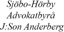 Sjöbo Advokatbyrå J:son Anderberg AB logo