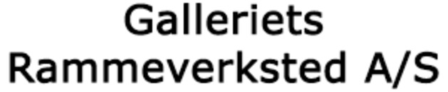 Galleriets Rammeverksted A/S logo