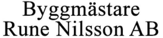 Byggmästare Rune Nilsson AB logo