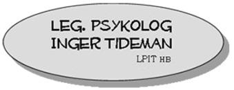 Psykolog L P I T Inger Tideman HB logo