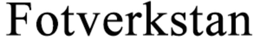 Fotverkstan logo