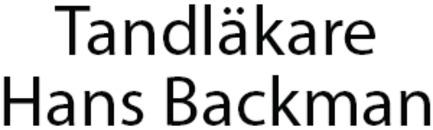 Tandläkare Hans Backman logo
