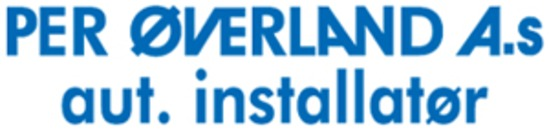 Installatør Per Øverland AS logo