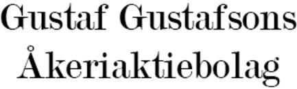 Gustaf Gustafsons Åkeriaktiebolag logo
