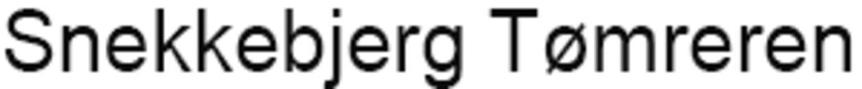 Snekkebjerg Tømreren logo