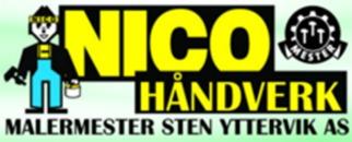 Nico Håndverk Malermester Sten Yttervik logo