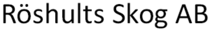Röshults Skog AB logo