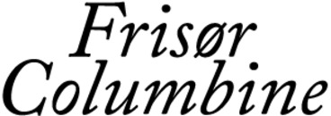 Frisør Columbine logo