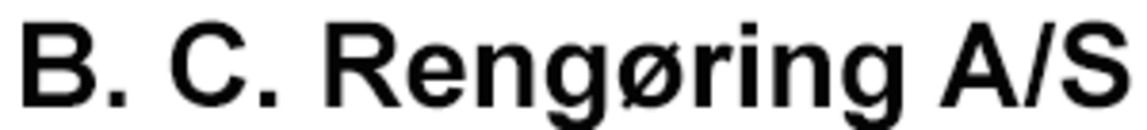 B. C. Rengøring A/S logo