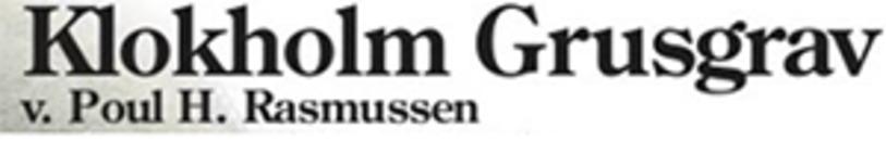 Klokholm Grusgrav logo