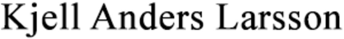 Larsson, Kjell Anders logo