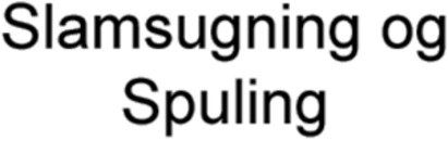 Slamsugning og Spuling logo