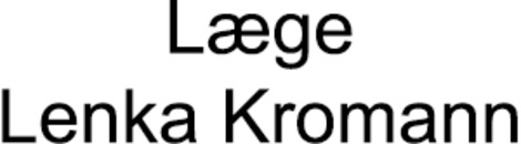 Læge Lenka Kromann logo