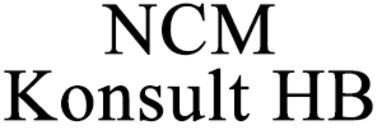 NCM Konsult HB logo