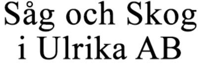 Såg och Skog i Ulrika AB logo