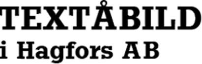 Textåbild i Hagfors AB logo
